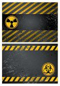 nuclear and biohazard danger warning background