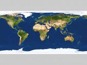 Real looking Earth map.  Map is accurate and right, like in reality. poster