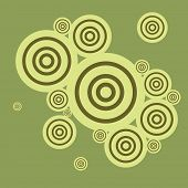 Abstract retro color circles illustration
