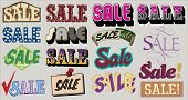 Vector vintage SALE labels
