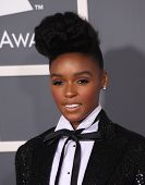 LOS ANGELES - FEB 13: Janelle Monae arrives at the 2011 Grammy Awards on February 13, 2011 in Los Angeles, CA