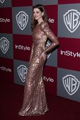 LOS ANGELES - JAN 16:  Anne Hathaway arrives at the 12th Annual WB-In Style Golden Globe After Party