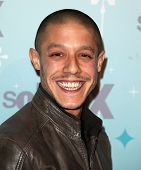 PASADENA, CA - JAN 11:  Theo Rossi arrives at the FOX All-Star Party on January 11, 2011 in Pasadena