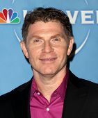 PASADENA, CA - JAN 13:  Bobby Flay arrives at the NBC All-Star Party on January 13, 2011 in Pasadena