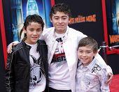 LOS ANGELES - MAR 06:  Ryan, Robert & Raymond Ochoa arrive at the