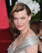 LOS ANGELES - JAN 16:  Milla Jovovich arrives to the 68th Annual Golden Globe Awards  on January 16,
