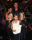 LOS ANGELES - MAY 07:  Lorenzo Lamas & Family arrives to the
