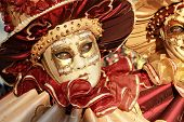 Red And Gold Mask Detail