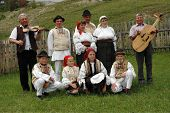 A group of dancers in traditional clothes, Romania