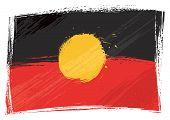 Bandeira aborígene de grunge