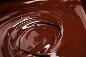 Melting Chocolate, Melted Delicious Chocolate For Handmade Praline Icing Confectionery poster