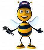 picture of bumble bee  - Bee worker - JPG