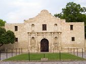 stock photo of revolutionary war  - The historic Alamo mission in San Antonio Texas famous battleground of the Texas Revolutionary War - JPG