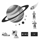 Vector Illustration Of Universe And Travels  Sign. Collection Of Universe And Cosmic  Vector Icon Fo poster
