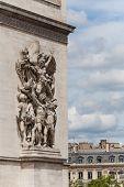 Arc De Triomphe Detail Showing Facade