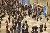 SAN FRANCISCO, USA, DECEMBER 7. Crowd of scientists at a break during American Geophysical Union Fal