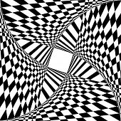 Abstract background with optical illusion effect. Vector art.
