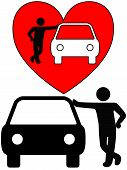 Amo o proprietário amante Auto negociante de carro