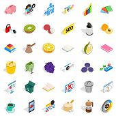 Set Task Icons Set. Isometric Set Of 36 Set Task Icons For Web Isolated On White Background poster