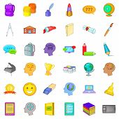 Online Access Icons Set. Cartoon Set Of 36 Online Access Icons For Web Isolated On White Background poster