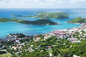 stock photo of thomas  - Aerial view of the island of St Thomas - JPG