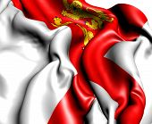 stock photo of sark  - Flag of Sark - JPG