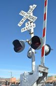 Railroad crossing gate