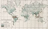 World rainfall map. By Paul Vidal de Lablache, Atlas Classique, Librerie Colin, Paris, 1894