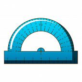 Maths Ruler Icon. Cartoon Illustration Of Maths Ruler Icon For Web poster