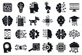 Artificial Intelligence Icons Set. Simple Set Of Artificial Intelligence Vector Icons For Web Design poster