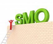 Word SMO on a big wall