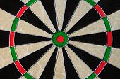 pic of fletching  - The bulls eye in a dart board - JPG