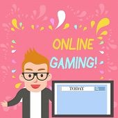 Word Writing Text Online Gaming. Business Concept For Action Or Practice Of Playing Video Games On T poster