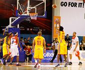 KUALA LUMPUR - FEBRUARY 19: S'pore Slingers' Matialakan Pathman (15) takes a free throw at the ASEAN