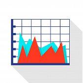 Improvement Diagram Icon. Flat Illustration Of Improvement Diagram Icon For Web poster