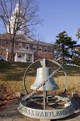 USS Maryland Bell from the decommissioned battleship on the grounds of the Maryland State House in A