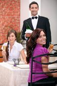 picture of pinner  - Waiter serving customers - JPG