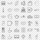 Jar Icons Set. Outline Style Of 36 Jar Vector Icons For Web For Any Design poster