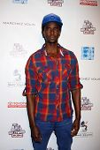 LOS ANGELES - FEB 19:  Edi Gathegi arrives at the 2nd Annual Hollywood Rush at the Wilshire Ebell on