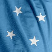 Micronesian Flag Closeup