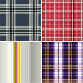 Retro Collection of seamless checked cotton pattern