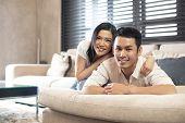 Estilo de vida do casal asiático