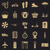 Tour Guide Icons Set. Simple Set Of 25 Tour Guide Vector Icons For Web For Any Design poster