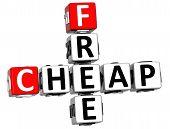 3D Cheap Free Crossword Text