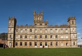 NEWBURY, UK - OCTOBER 13: Highclere Castle is the main setting for the ITV period drama Downton Abbe