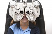 Eye test with phoropter