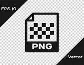 Grey Png File Document Icon. Download Png Button Icon Isolated On Transparent Background. Png File S poster