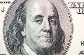 Benjamin Franklin Face On Dollar Bill