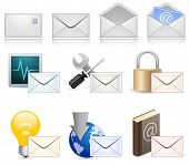 Mail Marketing conjunto de iconos
