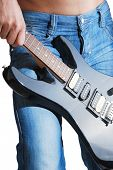 jeans with guitar